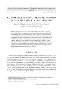 comparative review of hunting tourism in the czech republic and ...