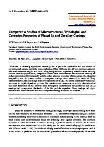 Comparative Studies of Microstructural, Tribological and Corrosion ...