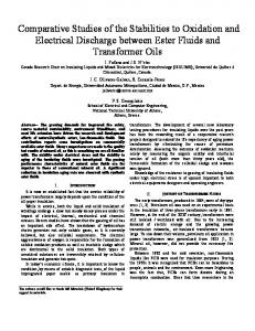 Comparative Studies of the Stabilities to Oxidation and Electrical ...