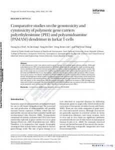 Comparative studies on the genotoxicity and cytotoxicity of polymeric ...