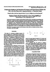 Comparative Studies on the Reactions of Carbamyl and Thiocarbamyl