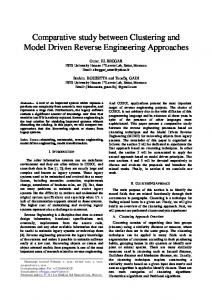 Comparative study between Clustering and Model ...