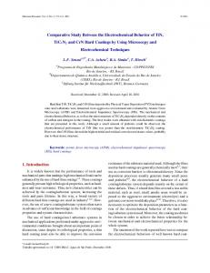 Comparative Study between the Electrochemical Behavior of ... - SciELO