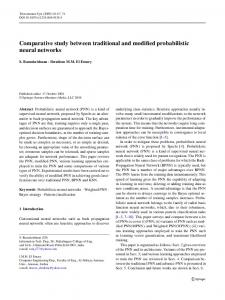 Comparative study between traditional and modified probabilistic ...