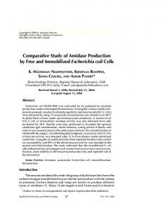 Comparative study of amidase production by free and immobilized ...