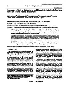 Comparative Study of Antibacterial and Haemolytic ... - Bentham Open
