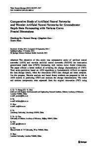 Comparative Study of Artificial Neural Networks and Wavelet Artificial ...