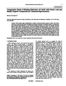 Comparative Study of Binding Behaviour of Cu(II ... - Bentham Open
