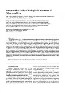 Comparative Study of Biological Characters of ...