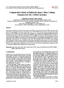 Comparative Study of Different Space-Time Coding Schemes for MC ...