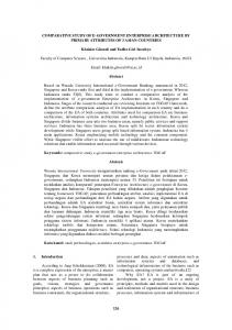COMPARATIVE STUDY OF E-GOVERNMENT ... - Portal Garuda