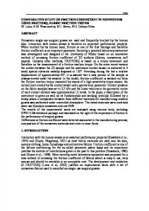 COMPARATIVE STUDY OF FRICTION COEFFICIENT IN ... - Core