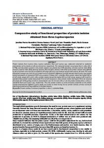Comparative study of functional properties of protein isolates obtained ...