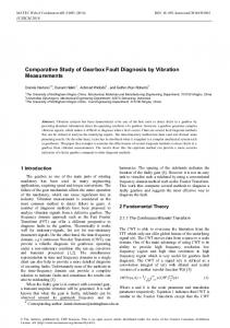 Comparative Study of Gearbox Fault Diagnosis ... - Nottingham ePrints