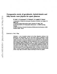 Comparative study of gyrokinetic, hybrid-kinetic and fully kinetic wave ...