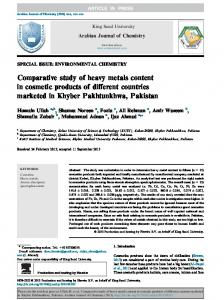 Comparative study of heavy metals content in ...