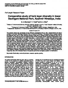 Comparative study of herb layer diversity in lower ... - Academic Journals