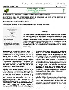COMPARATIVE STUDY OF HYPOGLYCEMIC EFFECT OF ...
