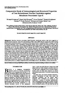 Comparative Study of Immunological and Structural Properties of Two ...