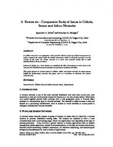 Comparative Study of Issues in Cellular, Sensor and Adhoc Networks