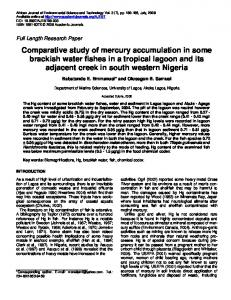 Comparative study of mercury accumulation in some brackish water ...