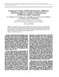 Comparative Study of Molecular Dynamics, Diffusion, and