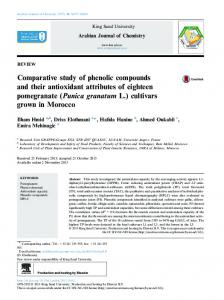 Comparative study of phenolic compounds and their