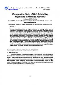 Comparative Study of QoS Scheduling Algorithms in Wireless Networks