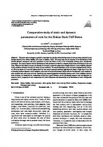 Comparative study of static and dynamic parameters of ... - Springer Link