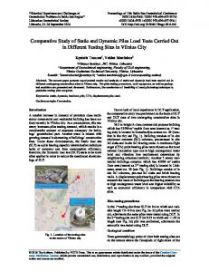 Comparative Study of Static and Dynamic Piles Load Tests Carried ...