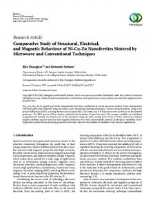 Comparative Study of Structural, Electrical, and Magnetic Behaviour of ...