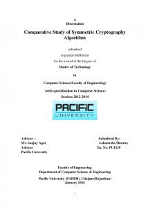 Comparative Study of Symmetric Cryptography ...