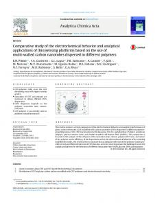 Comparative study of the electrochemical behavior ...