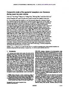 Comparative study of the equatorial ionosphere ... - Wiley Online Library