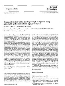 Comparative study of the holding strength of slipknots ... - Springer Link
