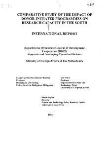 comparative study of the impact of donor ... - IDRC Digital Library
