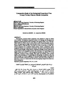 Comparative Study of the Mechanical Properties of