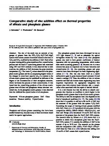 Comparative study of zinc addition effect on thermal properties of ...