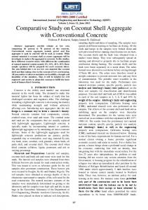 Comparative Study on Coconut Shell Aggregate with Conventional ...