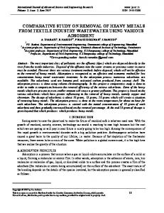 comparative study on removal of heavy metals from textile ... - IJASER