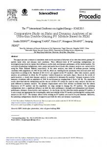 Comparative Study on Static and Dynamic Analyses of ... - ScienceDirect