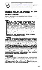 Comparative Study on the Determinants on SMEs Performances in ...