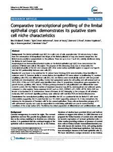 Comparative transcriptional profiling of the limbal ... - CiteSeerX