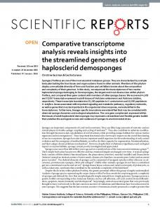 Comparative transcriptome analysis reveals insights into the