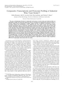 Comparative Transcriptomic and Proteomic Profiling of Industrial Wine ...