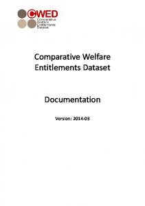 Comparative Welfare Entitlements Dataset Documentation