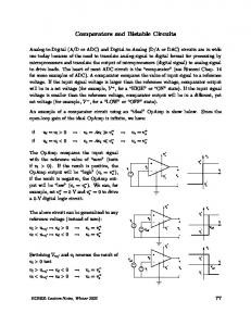 Comparators and Bistable Circuits