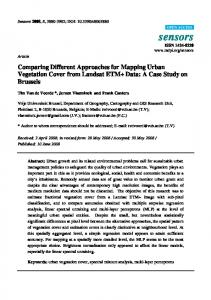 Comparing Different Approaches for Mapping Urban ... - MDPI