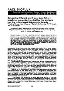 Comparing different small-scale tuna fishery suppliers: a case study ...