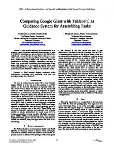 Comparing Google Glass with Tablet-PC as ... - Embedded Systems